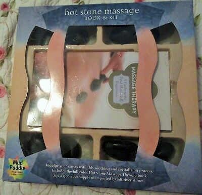 NEW IN BOX HOT STONE MASSAGE BOOK AND KIT Book & Kit