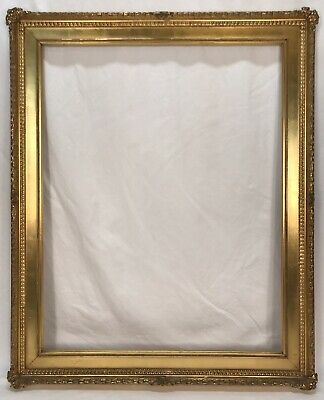 Large Antique Late 19th C Art Nouveau Ornate Gold Gilt Frame 22 x 28 Opening