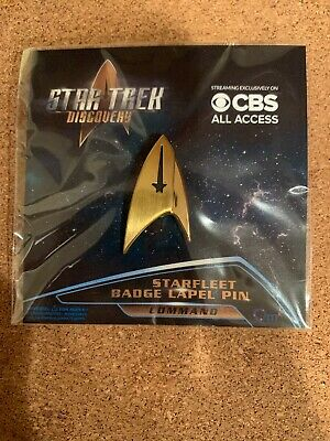 Star Trek Discovery, Lot of 21 Sealed Pins, Starfleet Badge Lapel Pin (Command).