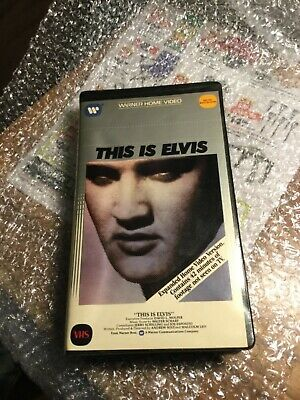 Elvis Presley- This Is Elvis- VHS- Not Tested See Pics 1983