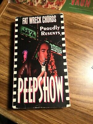 PeepShow- Fat Wreck Chords- VHS- Not Tested See Pics