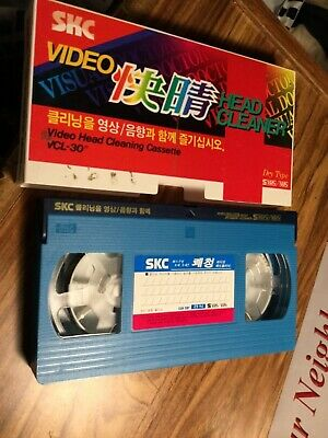 SKC- Video Head Cleaning Cassette Vhs - Japan- Not Tested See Pics