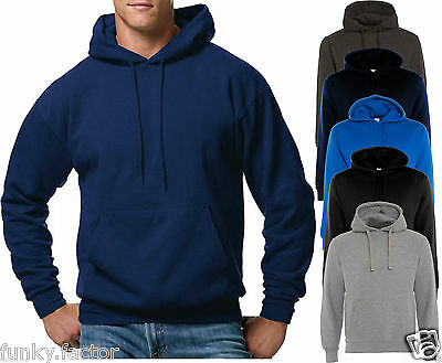 Mens Plain Pullover Hoodies Without Zip Men Hooded Sweat Hoodies Top Uk S-5Xl