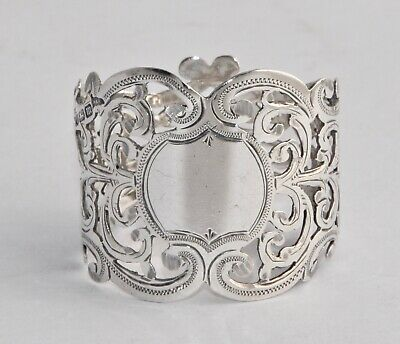 Beautiful 1904 Antique Solid Sterling Silver Napkin Ring - Walker & Hall