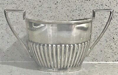 Antique English sterling silver twin handles bowl ,1907,Sheffield
