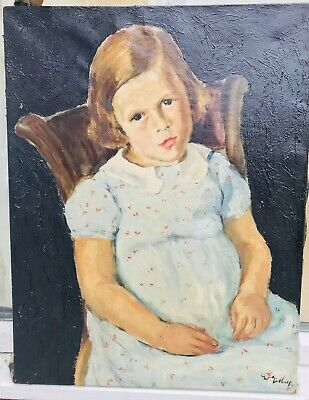 1920s SCOTTISH IMPRESSIONIST OIL PAINTING PORTRAIT SIGNED W.GILLIES ? No Reserve