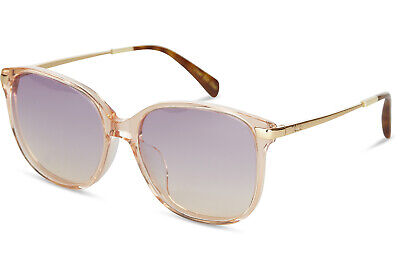 ddd75d9c38a TOMS 10013967 Women's Sandela 201 Peach Crystal With Purple Lens Sunglasses