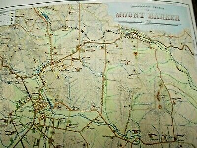 1955 2 X TOPOGRAPHICAL MAPS OF MOUNT BARKER & WOODSIDE SOUTH AUSTRALIA 43 X 51cm