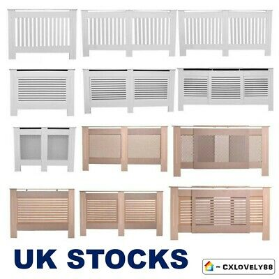 Radiator Cover Cabinet -White Unfinished Modern Traditional Wood Grill Furniture