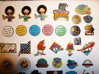 rare COLLECTION LOT PINS BADGE show expo salon fabricant pins sur les pins 60