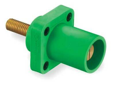 HUBBELL WIRING DEVICE-KELLEMS HBLMRSGN Receptacle,3R, 4X, 12K,Stud,Green