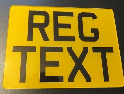 8x6 MOTORCYCLE BIKE SHOW STYLE SMALL NUMBER PLATE/SIGN