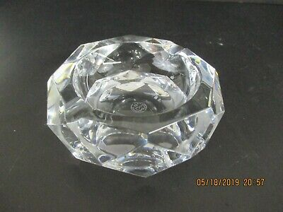 Baccarat Facet Cut Crystal Ashtray
