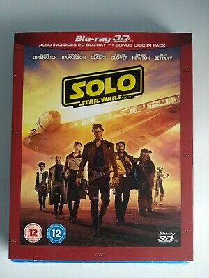 Solo A Star Wars Story [3D Blu-ray + Blu-ray] Region Free Limited Edition Sleeve