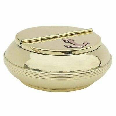 G4258: Maritime Flip Ashtray Marine Wind Ashtray Polished Brass 10 CM