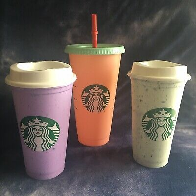 Starbucks Color Changing Cold Cup Marble Hot Cup Set Summer 2019 Rare