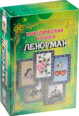 Russian Classic deck Oracle Lenormand 36 Cards Art guide Collection Deluxe Gift