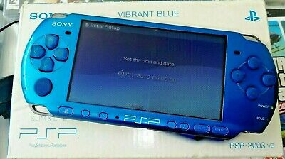Sony PSP 3003 Slim & Lite Vibrant Blue PlayStation Portable Boxed Console Rare