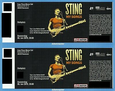2x Sting - Hannover - 06.06. - Stehplätze - Expo Plaza