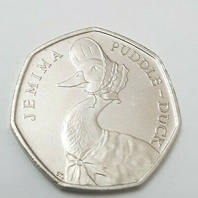 Rare 50p Coin Jemima Puddle Duck 2016 circulated - good condition