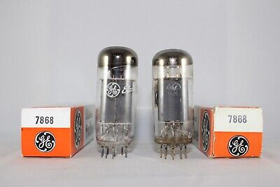 MATCHED & Boxed Pair GE 7868 TEST STRONG 103-105% NEW NOS