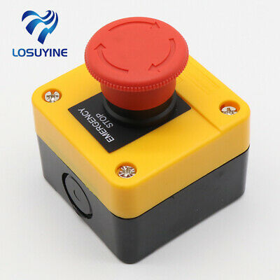 1NO+1NC e-stop push button switch emergency stop