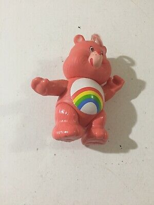 "Vintage 1983 Care Bears Cheer BEAR Poseable PVC Figure 3.5"" AGC Fast Shipping"