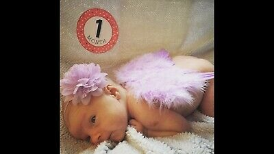 Newborn Baby Purple Angel Wings Headband Costume Photo Photography Props Outfit