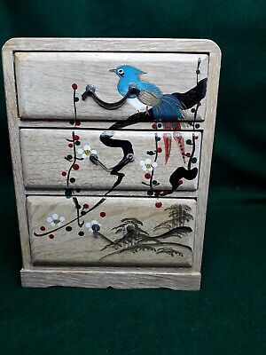 Miniature Japanese Style painted Cabinet Box