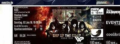 1 x Business Seat Package VIP KISS in ESSEN 02.06.19