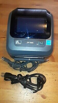 Zebra ZP505 Thermal Label Printer works great and comes with usb & power cord