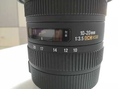 Sigma EX 10-20mm f/3.5 HSM EX DC Lens for Canon fit (Used - Great Condition)
