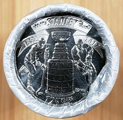 2017 CANADA 25c STANLEY CUP 125TH Anniversary Quarter - Coin Special Wrap Roll