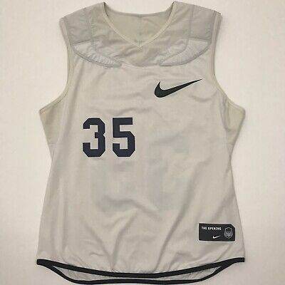 8e95c45e875 Nike The Opening Mens Dri Fit Football Tank Top Padded Gray White Size XL.  H2