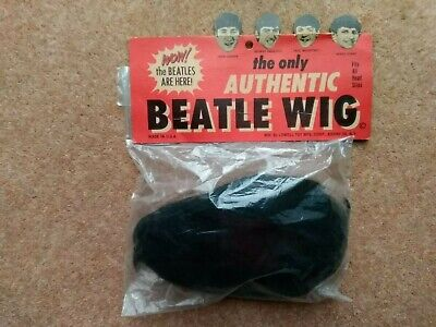 """""""The Only Authentic Beatles Wig"""" 1964 Original Beatles Wig By Lowell """"Unopened"""""""