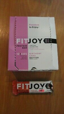 4 FitJoy Protein Bars Birthday Cake Batter 211 Oz Each 20 G Fit