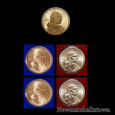 2019 P+D+S Native American Sacagawea Proof Mint Set (PD Pos A and B) Five Coins
