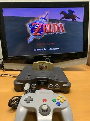 Nintendo 64 N64  Console + Official Controller + Cords!  Clean Test Fast Ship