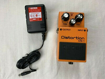 BOSS DS-1 Distortion Pedal w/ PSA-120T BOSS AC adaptor. IN BOXES / WORKS