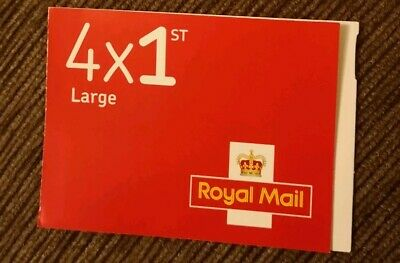 Royal Mail 4 x 1st class Large stamps self adhesive