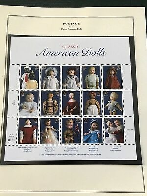 Scott #3151     Us Souvenir  Sheet   American  Dolls  32 Cent     Mnh