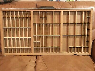PRINTERS Full Size Vintage TYPE CASE Or Drawer Or Tray With Handle Typecase