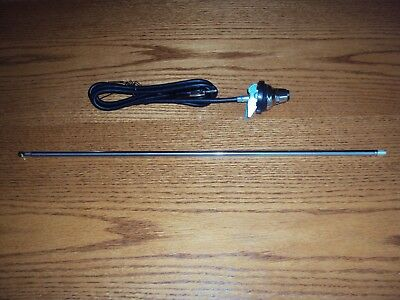 NEW Old School Vintage Car AM / FM AM Antenna Stainless Steel Removable Mast