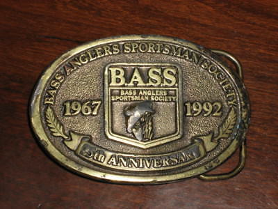 Brass Belt Buckle - Bass Anglers 25th Anniversary ('67 - '92)