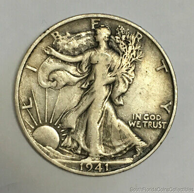 1941-S San Francisco Walking Liberty Silver Half Dollar Very Fine Condition
