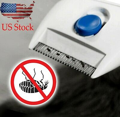 Flea Doctor Electric Pet Brush Flea Comb-Great for Dogs & Cats Useful US Stock
