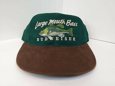 fb4093bce1213 Vintag Budweiser limited edition Bass Fishing Hat Cap NEW Old stock Large  Mouth