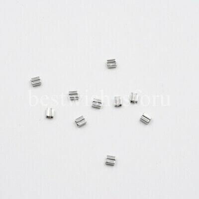 100 Pcs Dental Orthodontic Crimpable Hooks Double Tubes Stops Lingual Buttons