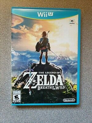 The Legend of Zelda Breath of the Wild (Nintendo Wii U, 2017) - Complete, Tested
