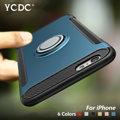 Shockproof Ring Stand TPU PC Hybrid Cover Case For iPhone 6 7 8 X XR XS XS Max